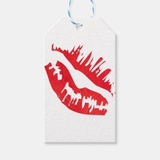 Etiqueta Para Presente Empacotamento encarnado do beijo