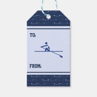 Etiqueta Para Presente Enfileirando esportes azuis cruzados do teste