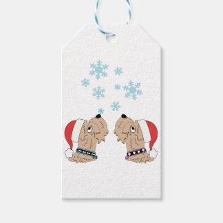 Etiqueta Para Presente Envolvimento Wheaten do Natal de Terrier