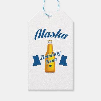 Etiqueta Para Presente Equipe do bebendo de Alaska