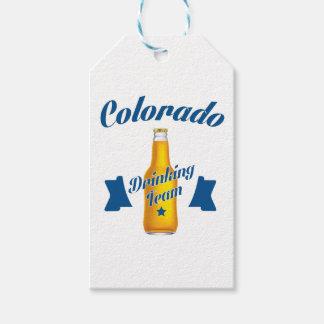 Etiqueta Para Presente Equipe do bebendo de Colorado