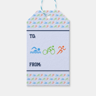 Etiqueta Para Presente Esportes do teste padrão do Triathlon - temáticos