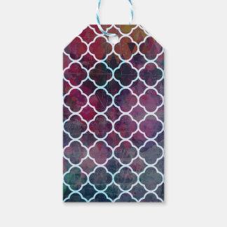 Etiqueta Para Presente Estilo cor-de-rosa do marroquino do Grunge