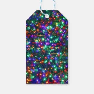 Etiqueta Para Presente Estrelas Sparkling do Natal