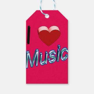 Etiqueta Para Presente Eu amo a música 2