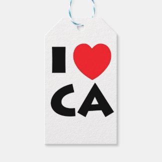 Etiqueta Para Presente Eu amo Califórnia