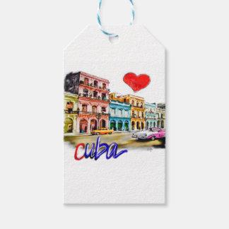 Etiqueta Para Presente Eu amo Cuba
