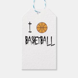 Etiqueta Para Presente Eu amo o basquetebol