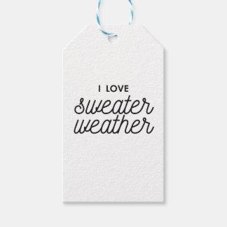 Etiqueta Para Presente Eu amo o tempo da camisola