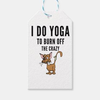 Etiqueta Para Presente Eu faço a ioga à queimadura do louco