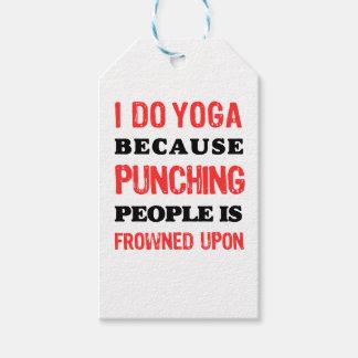 Etiqueta Para Presente Eu faço a ioga porque perfurar pessoas é olhada de