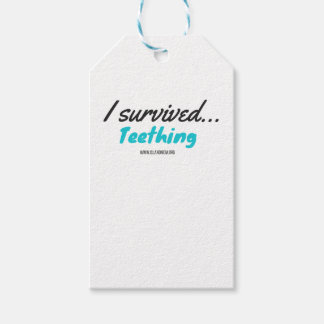 Etiqueta Para Presente Eu sobrevivi ao Teething - camisas de T