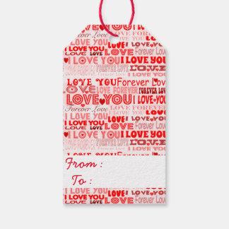 Etiqueta Para Presente Eu te amo
