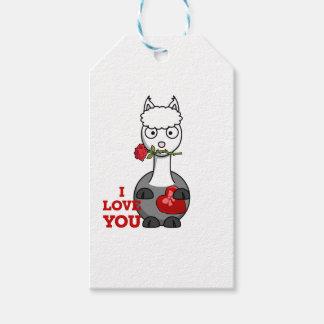 Etiqueta Para Presente eu te amo alpaca