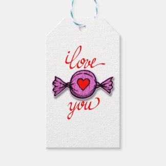 Etiqueta Para Presente Eu te amo (doces cor-de-rosa)