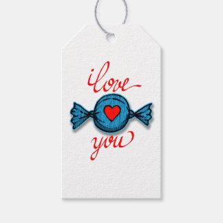 Etiqueta Para Presente Eu te amo (vermelho escrito)