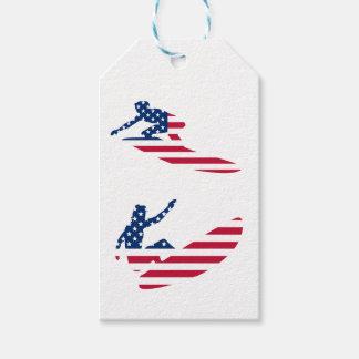Etiqueta Para Presente EUA que surfam o surfista americano