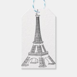 Etiqueta Para Presente excursão Eiffel