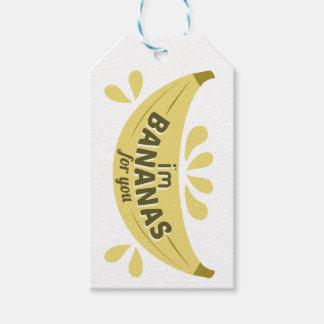 Etiqueta Para Presente Expressão engraçada da ilustração eu sou bananas