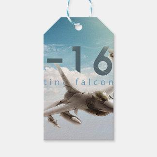 Etiqueta Para Presente Falcão F-16 de combate
