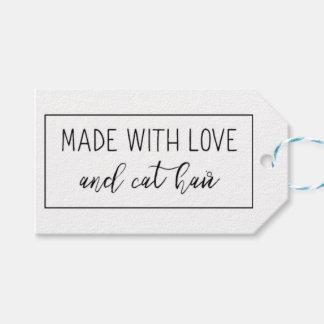 Etiqueta Para Presente Feito com amor e Tag do presente do cabelo do gato