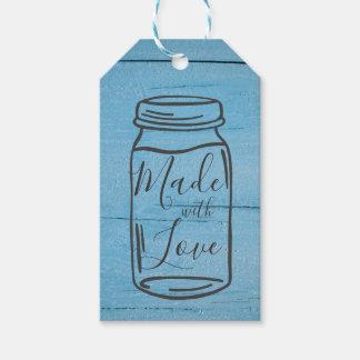 Etiqueta Para Presente Feito com o Tag do presente do frasco de pedreiro
