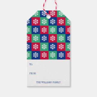 Etiqueta Para Presente Feliz colorida e Tag brilhante do presente do