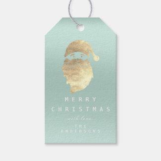 Etiqueta Para Presente Feliz do feriado ao boneco de neve dourado Tiffany