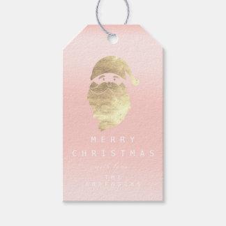 Etiqueta Para Presente Feliz do feriado ao rosa dourado Ombre do rosa do