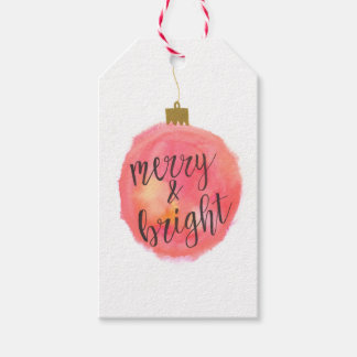 Etiqueta Para Presente Feliz do ornamento & Tag brilhante do presente