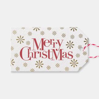 Etiqueta Para Presente Feliz Natal com feriado dos flocos de neve