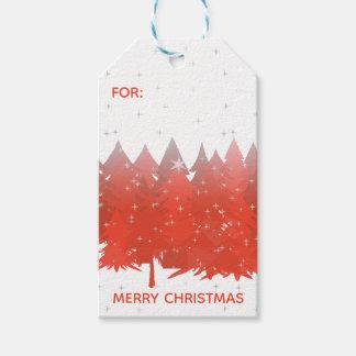 Etiqueta Para Presente Feliz Natal de prata do branco das estrelas das