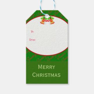 Etiqueta Para Presente Feliz Natal dos sinos de Natal