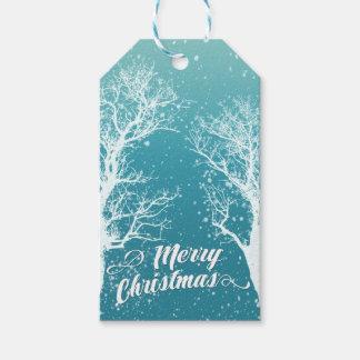 Etiqueta Para Presente Feriado do Feliz Natal do inverno