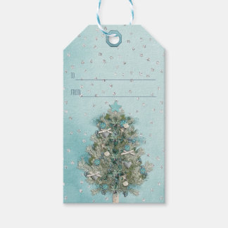 Etiqueta Para Presente Feriado do Natal - árvore bonita do Xmas