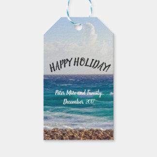 Etiqueta Para Presente Feriados da praia