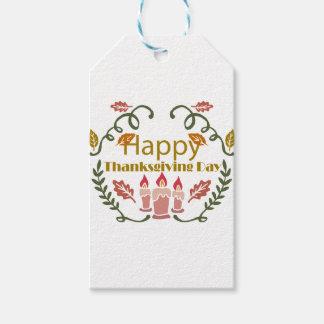 Etiqueta Para Presente Festival feliz da queda da acção de graças