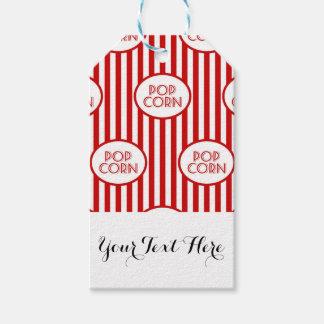 Etiqueta Para Presente Filmes brancos vermelhos da caixa da pipoca da
