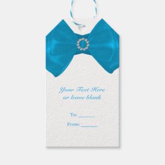 Etiqueta Para Presente Fita azul & favor elegante do chá de panela dos