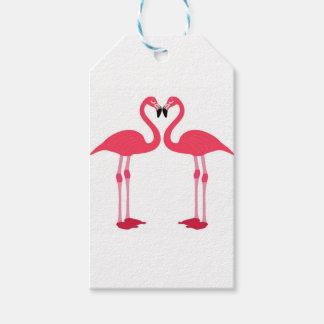 Etiqueta Para Presente flamingo-pássaro-amor