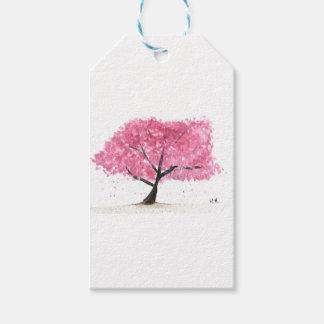 Etiqueta Para Presente Flor de cerejeira cor-de-rosa da árvore