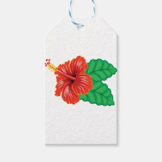 Etiqueta Para Presente Flor do hibiscus