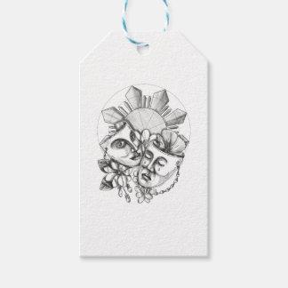 Etiqueta Para Presente Flor S filipino de Sampaguita do hibiscus da