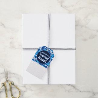Etiqueta Para Presente Flores azuis & brancas