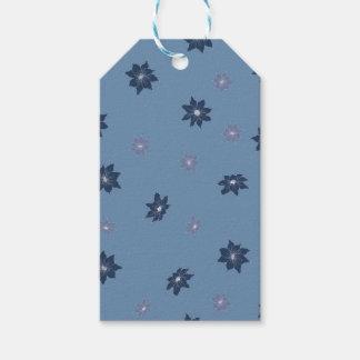 Etiqueta Para Presente Flores azuis e roxas