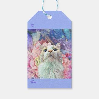 Etiqueta Para Presente Flores & Tag do presente de Flutterbys (bloco de