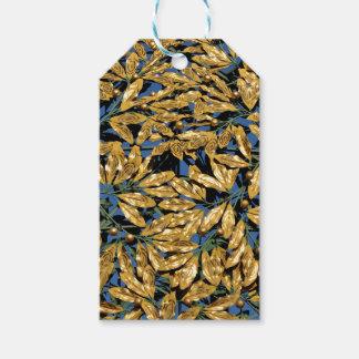 Etiqueta Para Presente Folhas do louro do ouro