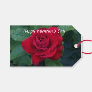 Etiqueta Para Presente Foto da rosa vermelha