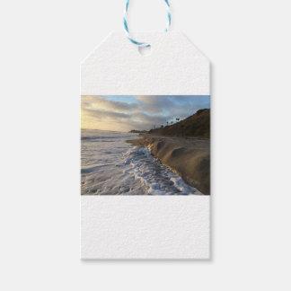 Etiqueta Para Presente Fotografia das ondas que batem a areia