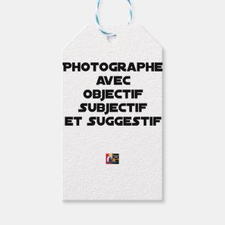 Etiqueta Para Presente Fotógrafo com objectivo subjectivo e sugestivo